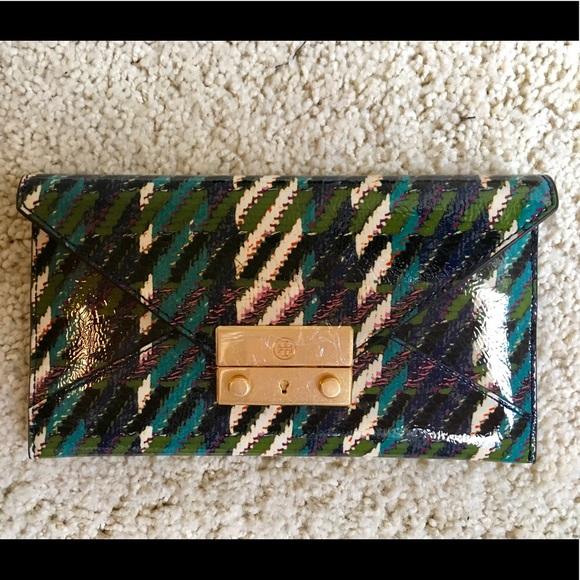 276ad8623fa15 NWT Tory Burch Juliette Tweed wallet